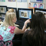 Students researching ideas