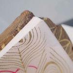 Wooden book peacock design