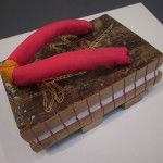 Wooden geta shoe book