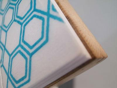 Wooden stab bound book