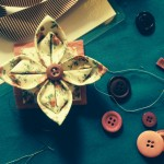 Fabric Lotus Flower Brooch