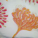 Chrysanthemum screen print on silk