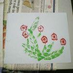 Printed flowers