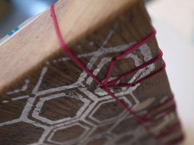 Wooden book hexagon design