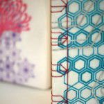 Screen printed books - close up