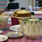 Tea and cake at a workshop in my studio