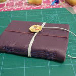 Leather longstitch book