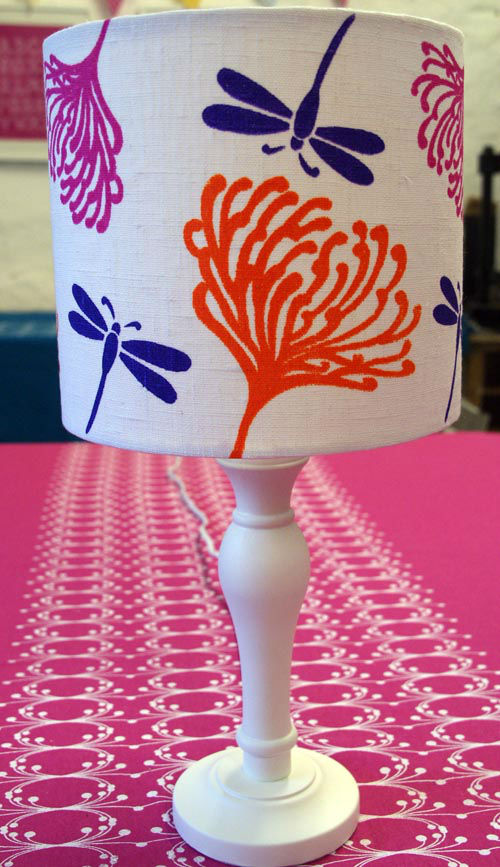 Screen Printed Lampshade